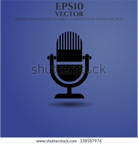 Microphone vector icon or symbol - stock vector