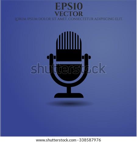 Microphone vector icon or symbol - stock vector