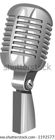 Microphone, vector illustration - stock vector