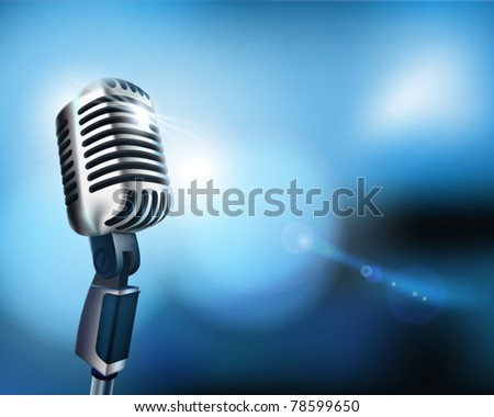 Microphone. Vector illustration. - stock vector