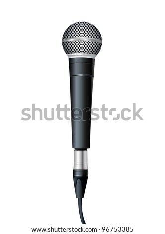 Microphone. Vector illustration - stock vector