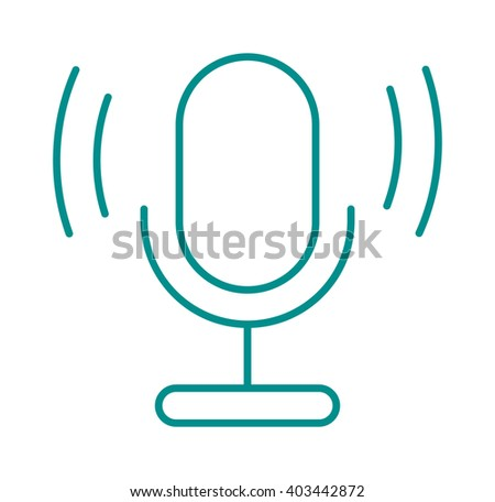Microphone vector illustration. Microphone vector isolated on white background. Microphone vector icon illustration. Microphone vector isolated. Microphone vector silhouette. Vector microphone icon - stock vector
