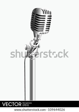 microphone vintage - stock vector