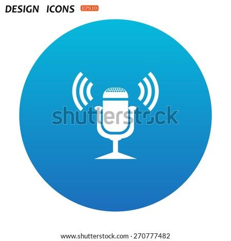 Microphone. Voice recording. icon. vector design - stock vector