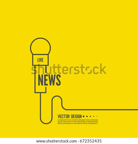 Microphone Wire Symbol Breaking News On Stock Vector (2018 ...