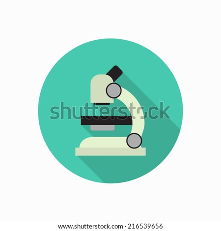 microscope icon illustration - stock vector