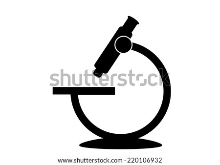 Microscope Icon. Vector  - stock vector