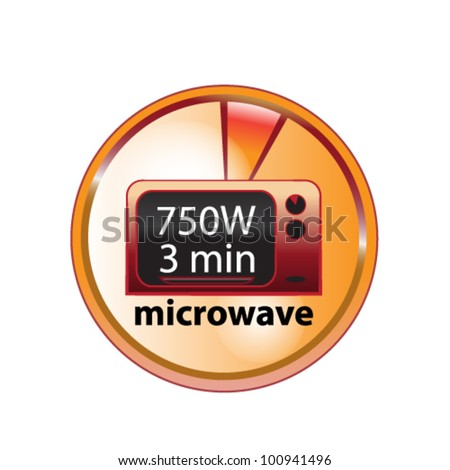 microwave food element - stock vector