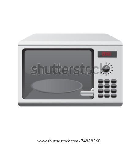 microwave illustration - stock vector