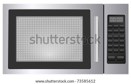 Microwave on white background. Vector illustration.
