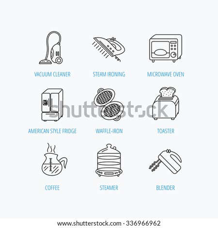 microwave oven coffee blender icons refrigerator stock vector 588293027 shutterstock. Black Bedroom Furniture Sets. Home Design Ideas