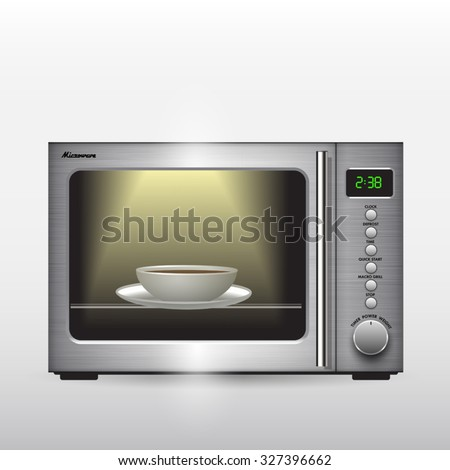 Microwave oven isolated on background. Vector illustration - stock vector