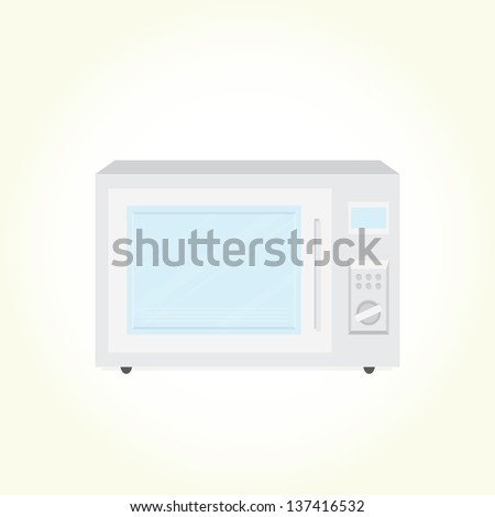 Microwave oven isolated vector - stock vector