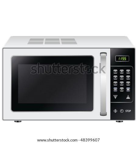 microwave - vector illustration - stock vector