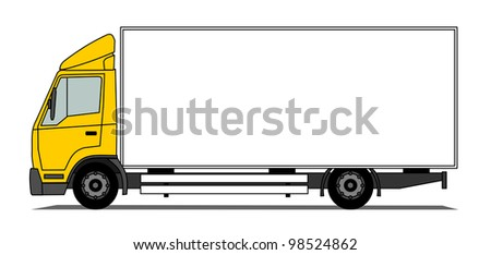 Middle box truck vector - stock vector