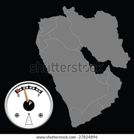 Middle East Oil Reserves - stock vector