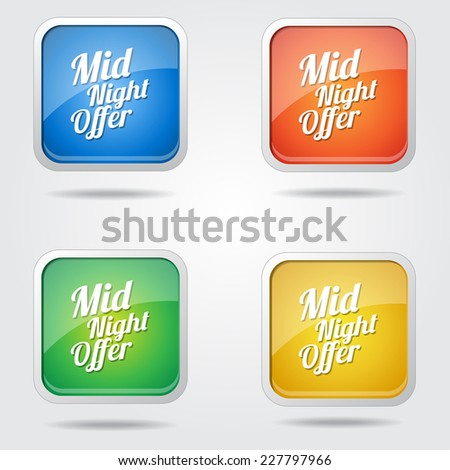 Midnight Offer Colorful Vector Icon Design