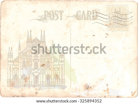 milan, italy - stock vector