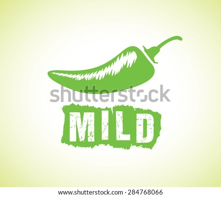 mild chilli - stock vector