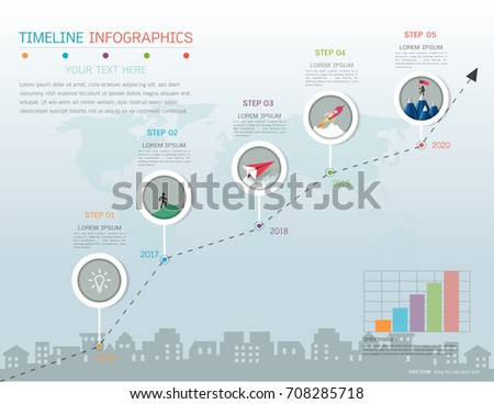 Milestone Timeline Infographic Design Road Map Stock Vector Royalty Free 708285718 Shutterstock