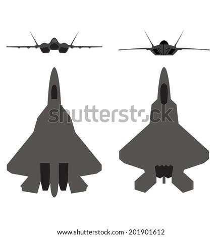 Military aircraft - stock vector