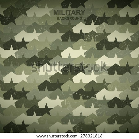 Military background. Camouflage stars and tents. - stock vector