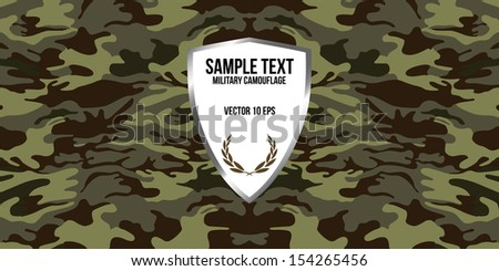Military camouflage background - stock vector