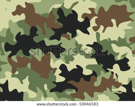 Military camouflage pattern - stock vector