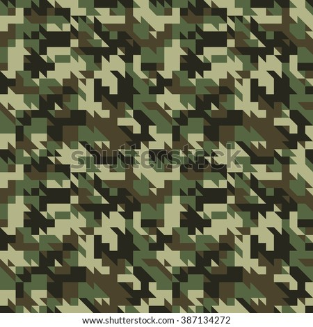 Military camouflage seamless pattern. Vector and Illustration - stock vector