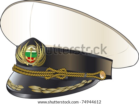 Military cap - stock vector