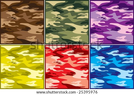 military collection part 1 of 3 : combat pattern - stock vector