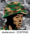 military collection part 3 of 3 : emotional soldier - stock vector