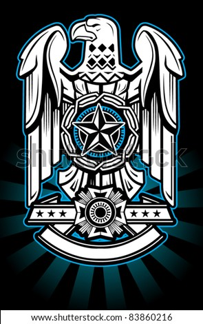 Military Eagle - stock vector