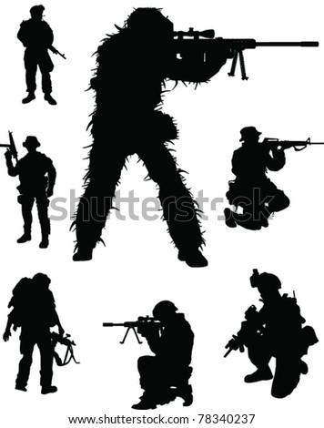 Military elite - stock vector