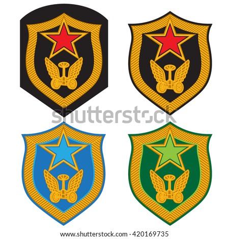 Military Emblem Badge Chevron Russian Army Stock Vector 420169735