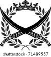 military glory. stencil. vector illustration - stock vector