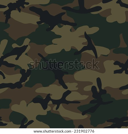 Military khaki camouflage. Seamless vector pattern. - stock vector