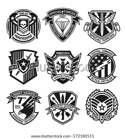 Military Patch Emblem Badges Stock Vector 572180515 - Shutterstock
