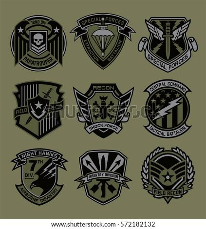 Military Patch Emblem Badges Stock Vector 572182132 - Shutterstock