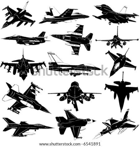 military plane vector 2 - stock vector