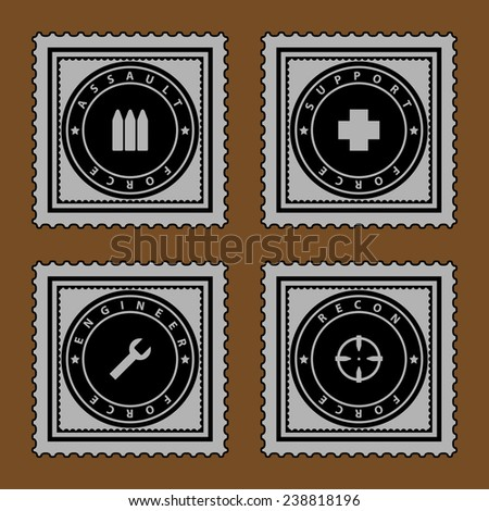 Military ribbons - stock vector