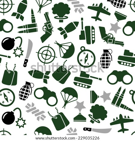 military seamless pattern - stock vector