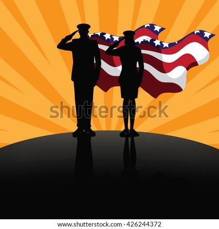 Military super heroes marketing poster background design. EPS 10 vector. - stock vector