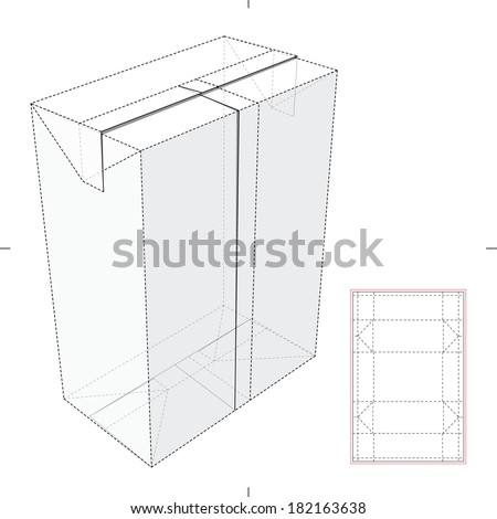 Milk Juice Box Diecut Pattern Stock Vector 182163638 ...