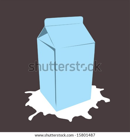 milk box (vector) - stock vector