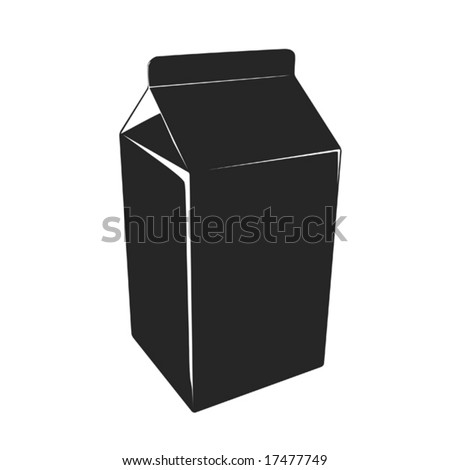 milk_box (vector) - stock vector