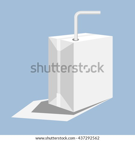 milk box. With a bent tube. Milk carton paper The interior is a plate Freud water. Boxes made stronger. Can box to recycle.