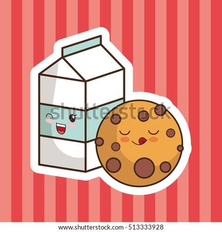 Cookies And Milk Cartoon