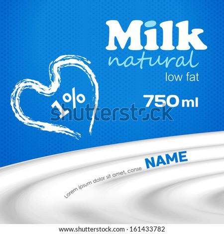 Milk design for your busines - stock vector