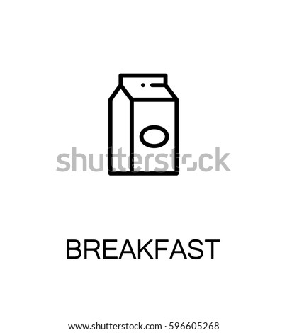 Milk Flat Icon Single High Quality Stock Vector 596605268 Shutterstock